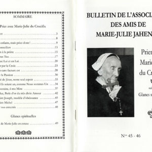 Bulletins de l'association des Amis de Marie-Julie Jahenny