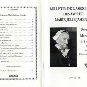 Bulletins de l'association des Amis de Marie-Julie Jahenny