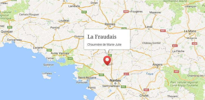 Emplacement géographique de La Fraudais
