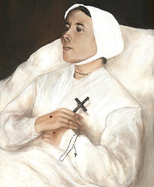 Marie-Julie Jahenny, la stigmatisée bretonnesur son lit de mort